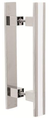 Puxador Ref.355 Cromado/Branco - Pauma