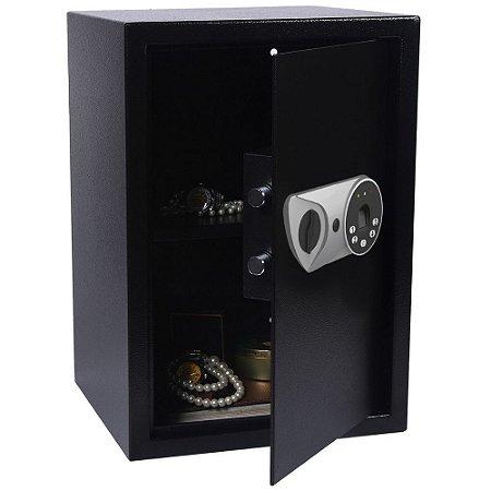 Cofre Eletrônico Biométrico FPN 50 Registra 20 Impressões Digitais - Black