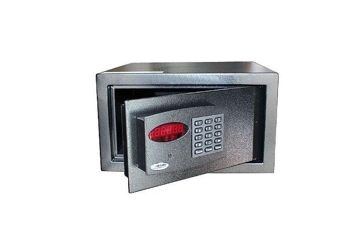 Cofre Digital Eletrônico Office Black com Auditoria de Senhas Cadastra 6 Usuários