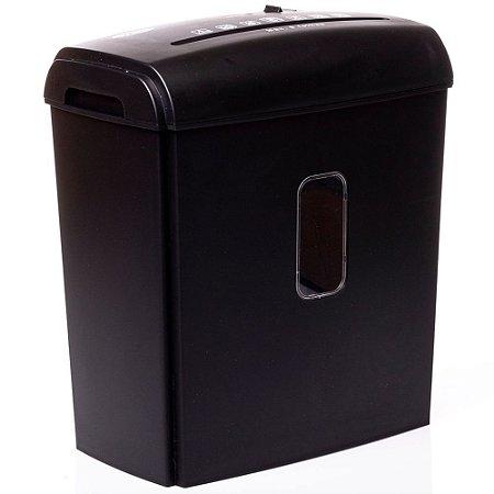 Fragmentadora 8 folhas Corte Partículas - Preto Lixeira 13 litros 110v