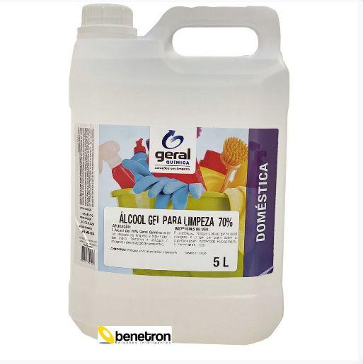 Álcool Gel 70% Galão com 5 Litros Geral Química