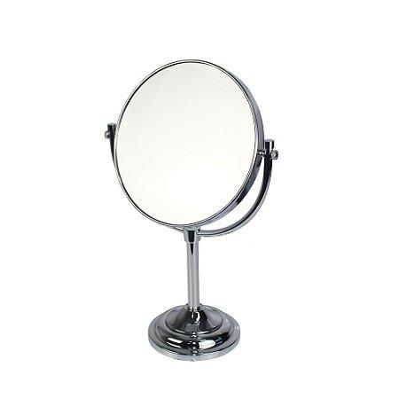 Espelho de Aumento Dupla Face com Base Panther PTH326-8 8 Polegadas