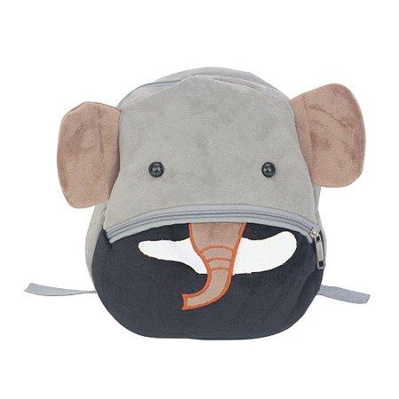 Mochila Infantil Bichinho de Pelúcia PP - Elefante