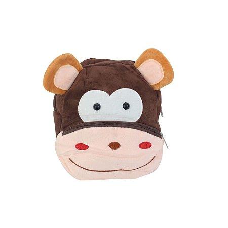 Mochila Infantil Bichinho de Pelúcia PP - Macaco