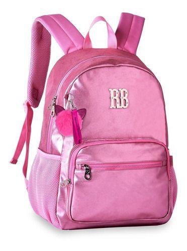 Mochila Metalizada Rebecca Bonbon Rosa - RB2073