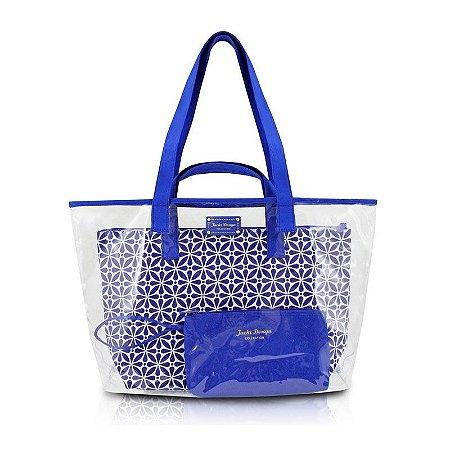 Kit de Bolsa com 3 Peças Étnica ABC16115 Jacki Design - Azul