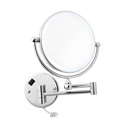 Espelho de Aumento com Luz LED Dupla Face para Parede Panther MC2188-8 8 Polegadas