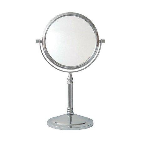 Espelho de Aumento Dupla Face com Base Panther PTH469-8 8 Polegadas