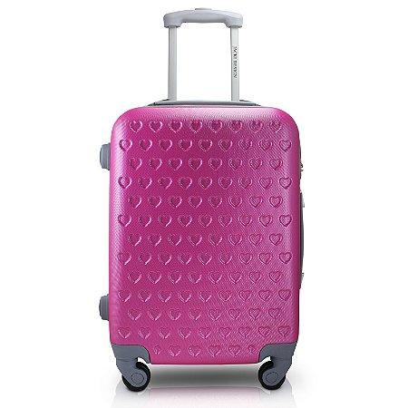 Mala de Viagem ABS Feminina Pink (Love) Jacki Design - APT17578