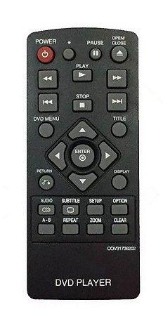 CONTROLE REMOTO DVD LG COV31736202