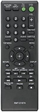 CONTROLE REMOTO DVD SONY D187A
