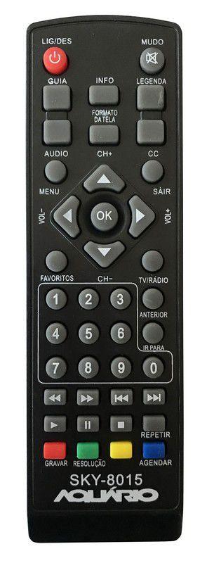 CONTROLE REMOTO CONVERSOR DIGITAL AQUÁRIO DTV7000 /5000