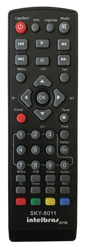 CONTROLE REMOTO CONVERSOR DIGITAL INTELBRAS CD636