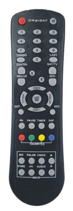 CONTROLE REMOTO RECEPTOR ORBISAT S2200 DIGITAL PLUS