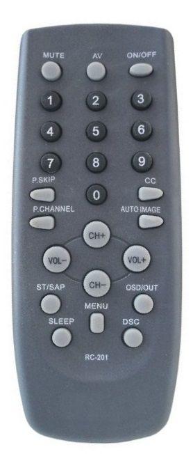 CONTROLE REMOTO TV CCE/CYBER RC-201 / RC-206