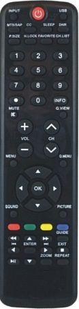 CONTROLE REMOTO TV LCD H-BUSTER PRETO