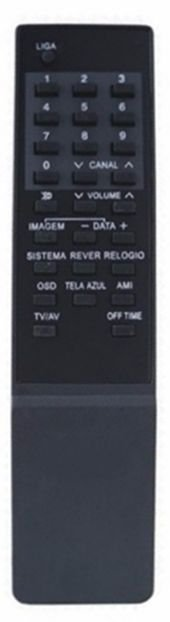 CONTROLE REMOTO TV SHARP C14R-12/C14R-52/C20R-12/C14RSO2/C20RSO2