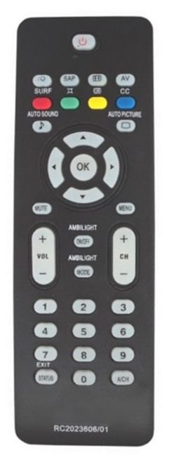 CONTROLE REMOTO TV PHILIPS RC2023606/01 / 32PFL3322 / 32PFL5332 / 32PFL7342 / 42PFL3322