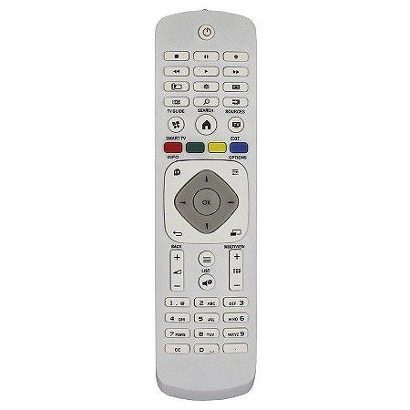 CONTROLE REMOTO TV LED PHILIPS RC1-B 42PFG5909/78 42PFG6519/78 - BRANCO