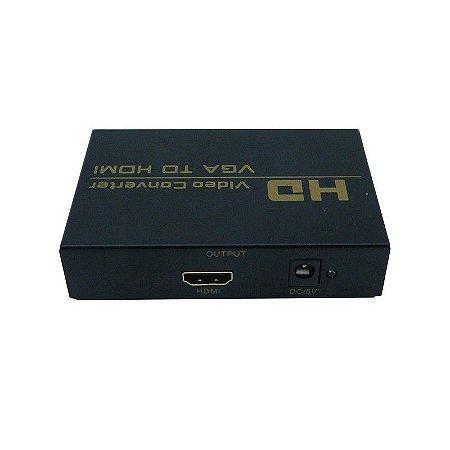 ADAPTADOR CONVERSOR VGA PARA HDMI COM ÁUDIO