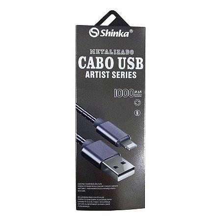 CABO USB V8 METÁLICO PARA CELULAR
