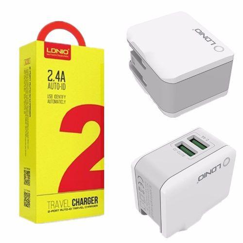 CARREGADOR USB 2 PORTAS LDNIO 2.4A