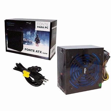 FONTE ATX 450W REAL COWBOY KP-533 BIVOLT PC