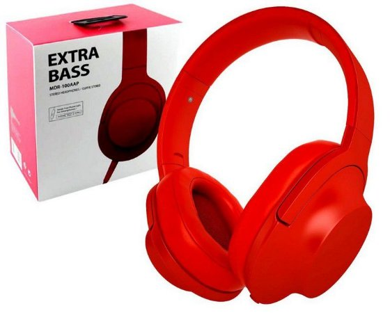 FONE DE OUVIDO HEADPHONE STEREO EXTRA BRASS MDR-100AAP