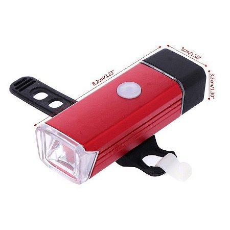 LANTERNA LED PARA BICICLETA USB RECARREGÁVEL 180 LÚMEN LL82059