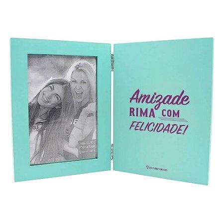 Livro Porta Retrato Mda Amizade Rima com Felicidade