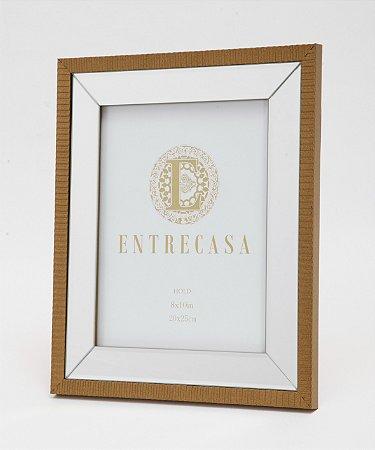 Porta Retrato em MDF Moldura Espelhado Detalhe Textura 20x25cm 8756 - Entrecasa