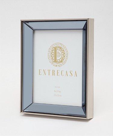 Porta Retrato em MDF Moldura Espelhada Chanfro Detalhe Textura 20x25cm 8759 - Entrecasa