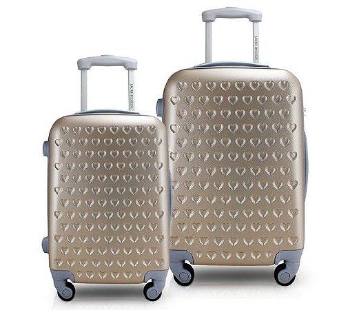 Conjunto de Malas de Viagem 2 peças Love Jacki Design APT18665 Dourado
