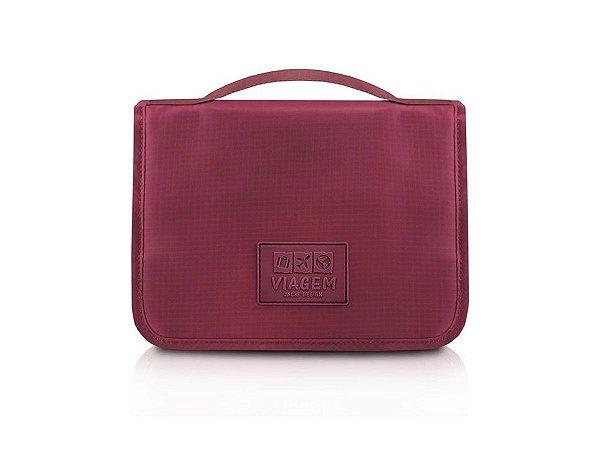 Necessaire de Viagem C/ Gancho Jack Design - ARH18732 Cor:Vinho
