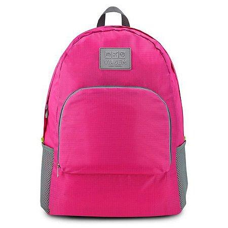 Mochila Dobrável de Poliéster (Viagem) Jacki Design - ARH18695 Cor:Pink