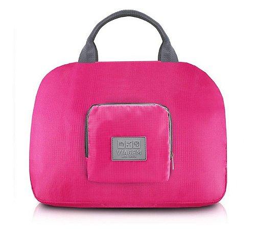 BOLSA DE VIAGEM DOBRAVEL - ARH18689  Cor:Pink