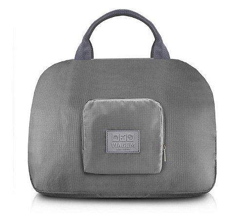 Bolsa de Viagem Dobrável Jacki Design - ARH18689  Cor:Cinza