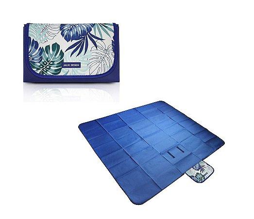 Tapete para Piquenique Impermeável G Tropicália Jacki Design - AQR18685 Cor:Azul