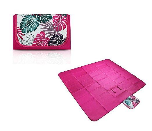 Tapete para Piquenique Impermeável G Tropicália Jacki Design - AQR18685 Cor:Pink