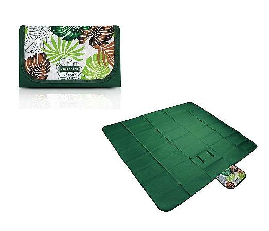Tapete para Piquenique Impermeável G Tropicália Jacki Design - AQR18685 Cor:Verde