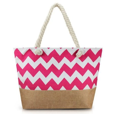 Bolsa de Praia Jacki Design - AFM19759 Cor:Pink/Marrom