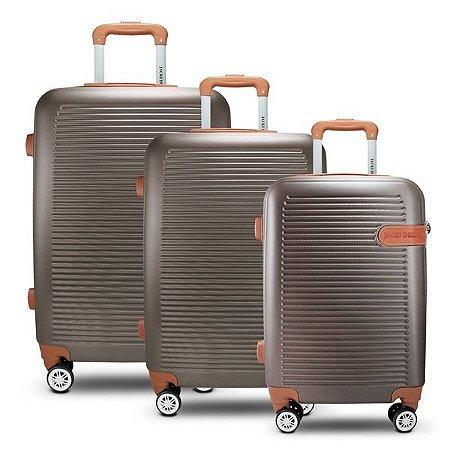 Conjunto de Malas de Viagem 3 Peças Bronze (Premium) Jacki Design - AMF19796