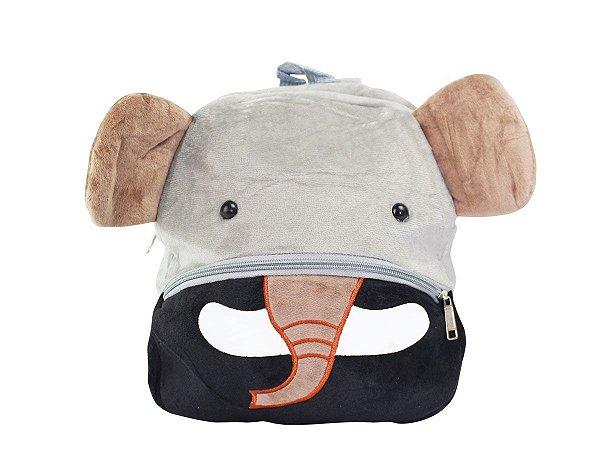 Mochila Infantil Bichinho de Pelúcia - Elefante