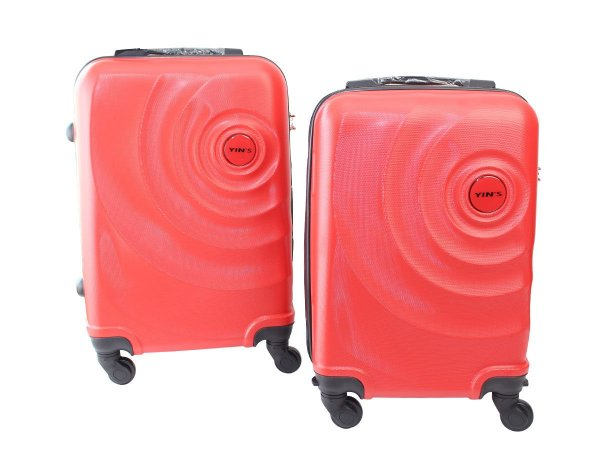 Conjunto de 2 Malas de Viagem ABS C/ Roda 360 Vermelho P PP Yin's YS21061V