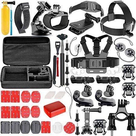 Kit Maleta Acessórios Action Câmera 53 em 1 - MT-1100