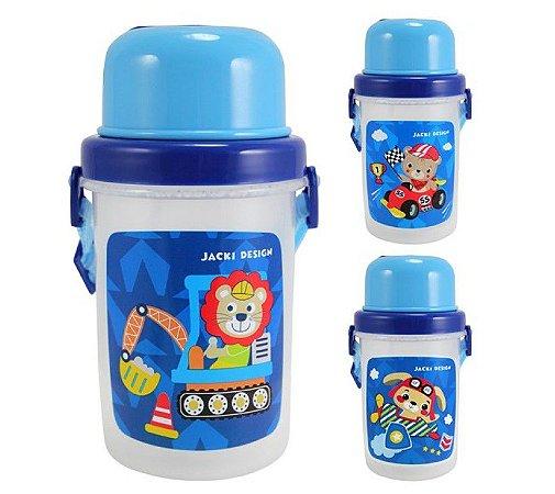 Garrafa Squeeze Infantil Menino 450ml (Filhotinhos) Jacki Design - AHX18736