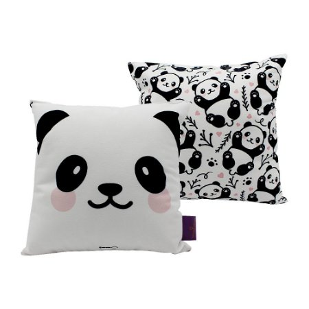 Mini Almofada Panda 25x25cm - Zona Criativa