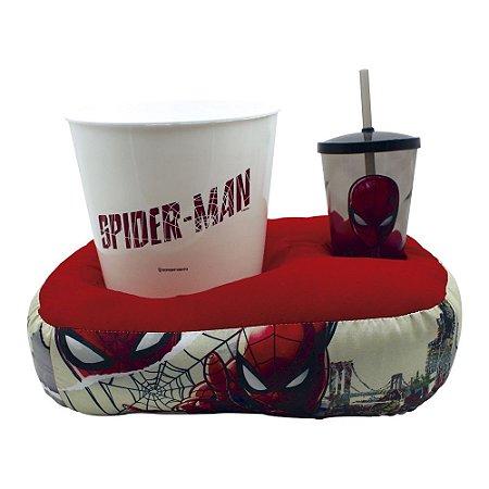 Kit Almofada Porta Pipoca Spider Man HQ - Zona Criativa