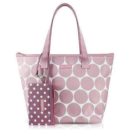 Bolsa com Niqueleira Dots Jacki Design - AHL19833 Cor:Rosa