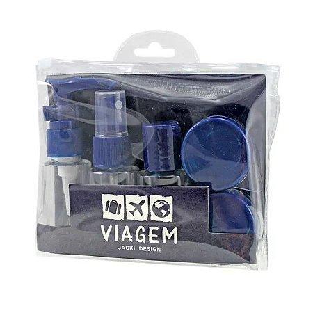 Kit de Frascos para Viagem 7 peças Jacki Design AKM19762 Cor:Azul